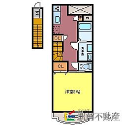 HIROコーポA棟[2階]の間取り