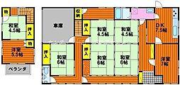 [一戸建] 岡山県備前市日生町寒河 の賃貸【/】の間取り