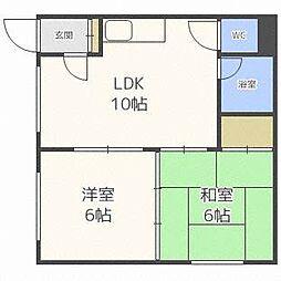 グラフウエストI[3階]の間取り