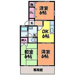 カーサ針田 B棟[1階]の間取り