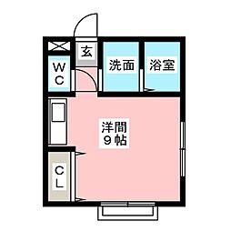 コーポ田村[2階]の間取り