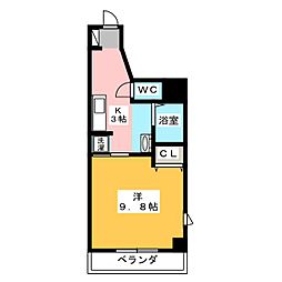 シャトーボナールII[8階]の間取り