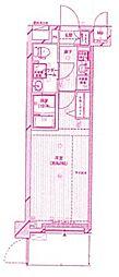 メインステージ二子多摩川[4階]の間取り
