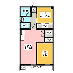 アルメリアコーポ[1階]の間取り