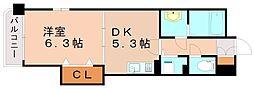 レジデンス御笠1[5階]の間取り