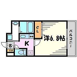 兵庫県西宮市津門住江町の賃貸マンションの間取り