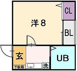 ホワイトハイツ[3階]の間取り