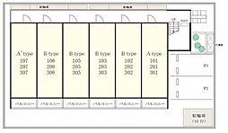 リブリ・SAKAE 2[新築・ホームセキュリティ付][2階]の間取り