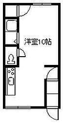 オリス芦別L 1階ワンルームの間取り