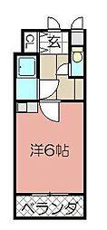 シャルム小倉中津口[1102号室]の間取り