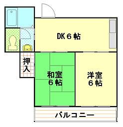三木ビル[3階]の間取り