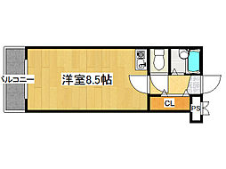 荻田第7ビル[3階]の間取り