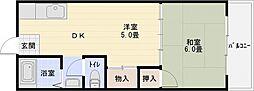 山下マンション[3階]の間取り