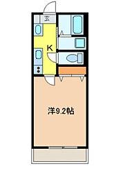カリスト本八幡[303号室]の間取り