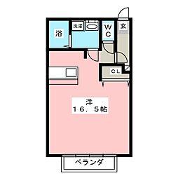 シティパルスギモトV[2階]の間取り