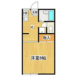 ハイツナガノIII[1階]の間取り