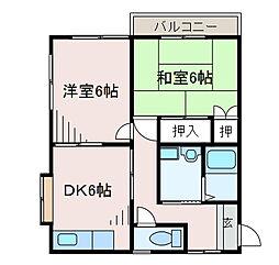 タカイチハイツA[2階]の間取り