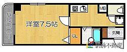 キャッスルマンション箱崎B号棟[408号室]の間取り