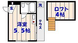 ドールハウス[B101号室]の間取り