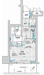 フェリズ横浜関内[3階]の間取り