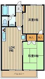 東京都練馬区南大泉6丁目の賃貸アパートの間取り
