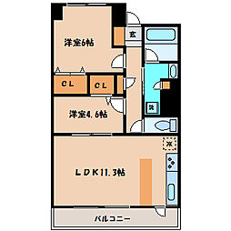 グラディート町田[8階]の間取り