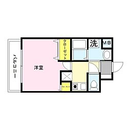GOOD LIFE岩田[6階]の間取り