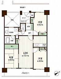 ローレルコート古江[15階]の間取り