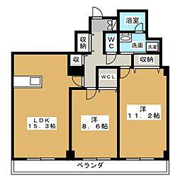 レデントーレ[4階]の間取り