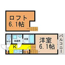 BEAM MEIEKI(ビームメイエキ)[103号室]の間取り