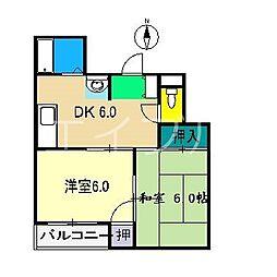 パールハウス[3階]の間取り