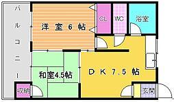 小倉第一マンション[504号室]の間取り