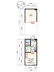 東京都板橋区新河岸3丁目の賃貸アパートの間取り