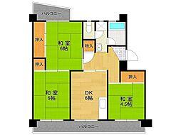 UR中山五月台住宅[11-302号室]の間取り