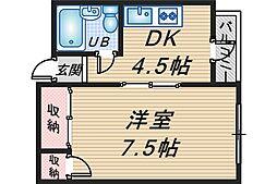 クレセントマンション[301号室]の間取り