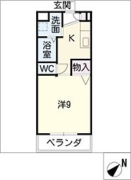 シンフォニー大園[2階]の間取り
