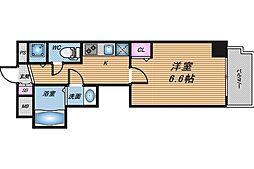 大阪府大阪市北区松ケ枝町の賃貸マンションの間取り