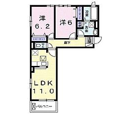 カリンの木[1階]の間取り