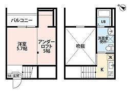 愛知県春日井市小木田町の賃貸アパートの間取り