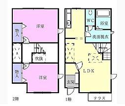 メゾネットアルファ[2階]の間取り