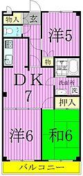 フラワーフィールドマンション[1階]の間取り