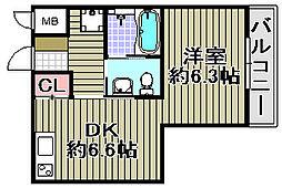 Re−Life阪南[208号室]の間取り