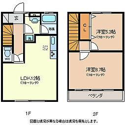[タウンハウス] 長野県佐久市長土呂 の賃貸【/】の間取り