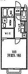 ピアット綱島[103号室号室]の間取り