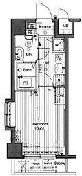 グランドガーラ高輪[6階]の間取り