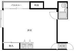 東京都練馬区田柄1丁目の賃貸マンションの間取り