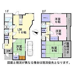 [一戸建] 埼玉県越谷市宮前1丁目 の賃貸【/】の間取り