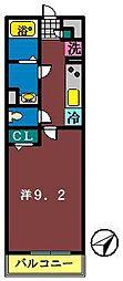 リブリ・船橋宮本[202号室]の間取り