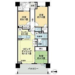 愛知県名古屋市名東区扇町2丁目の賃貸マンションの間取り