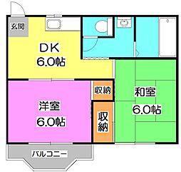 東京都練馬区三原台2丁目の賃貸アパートの間取り